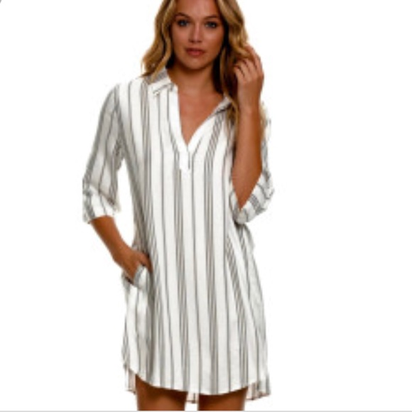 9e08915e12 Elan Swim | Black And White Striped Beach Coverup Dress | Poshmark